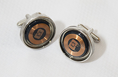 NFCufflinks  - Topaz 512  - NFC Cufflinks - CR Threads --