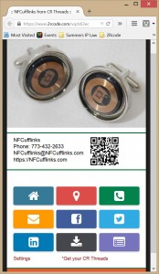 NFCufflinks' user contact interface